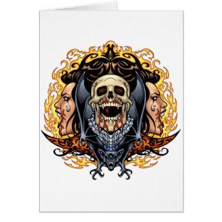 Skulls, Vampires and Bats customizable by Al Rio. Greeting Card