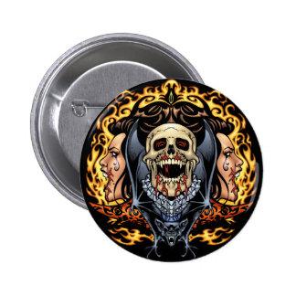 Skulls Vampires and Bats Gothic Design by Al Rio Pins
