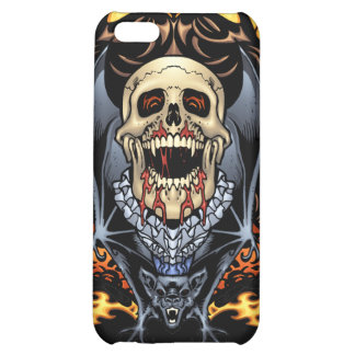 Skulls, Vampires and Bats Gothic Design by Al Rio Cover For iPhone 5C