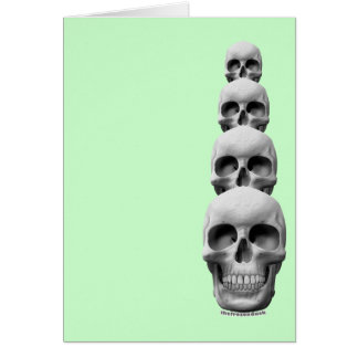 Skulls - Vertical Greeting Card