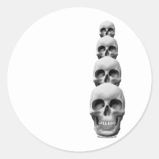 Skulls - Vertical Round Sticker
