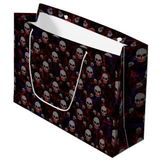 Skulls With Chains Large Gift Bag
