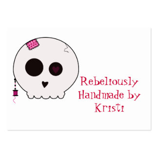 Skully Crafter Hang Tag Business Cards