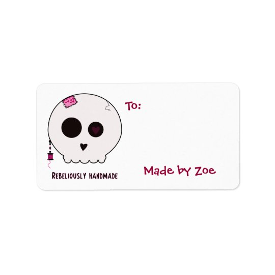 Skully Crafter Medium Size Gift Tags Address Label