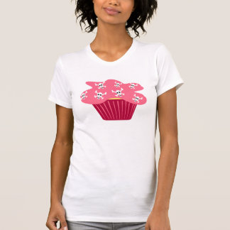 Skully Cupcake Womens T-Shirt