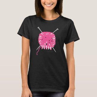Skully Knitter T-shirt - Pink
