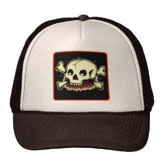 skully mesh hat
