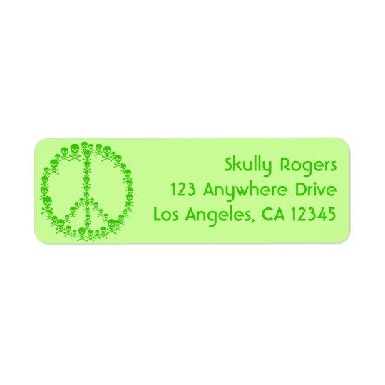 Skully Peace Return Address Label
