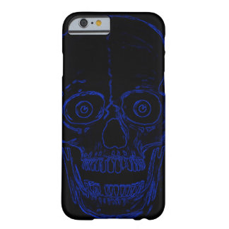 Skully Skull Blue Demon Skull Barely There iPhone 6 Case