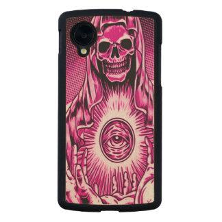 Skully Skull Evil Pink Eye Carved® Maple Nexus 5 Case