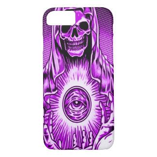 Skully Skull Evil Purple Eye iPhone 7 Case