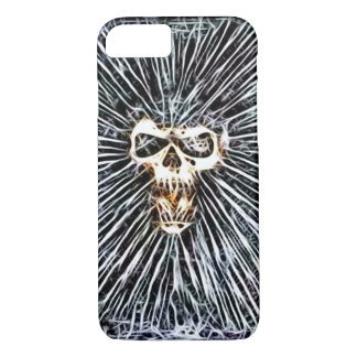 Skully Skull Ghost Warp Fractal Art iPhone 7 Case