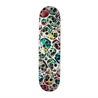 Skully Skull Panic Room 18.1 Cm Old School Skateboard Deck