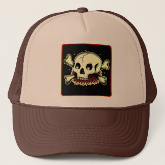 skully trucker hat