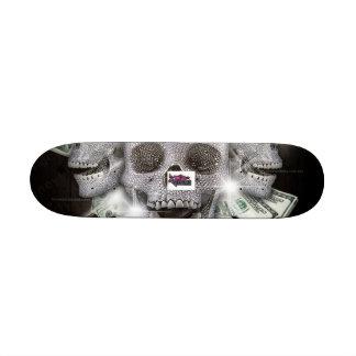 skullz 21.3 cm mini skateboard deck