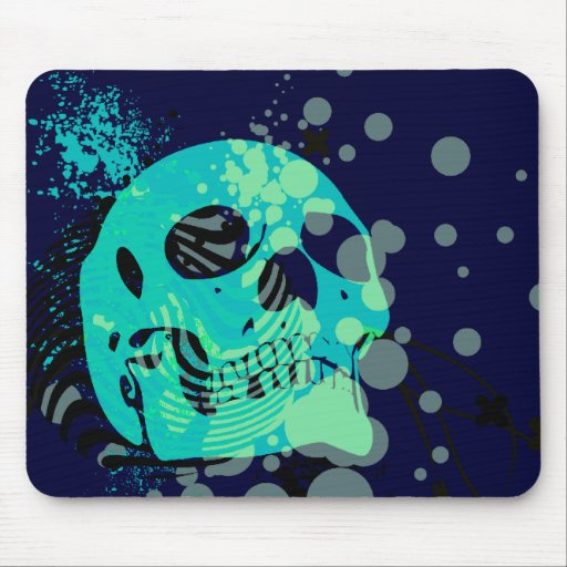 skullz. up with bubbles. mouse pads