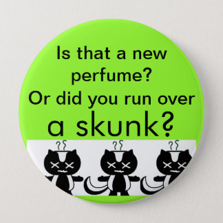 Skunk 10 Cm Round Badge