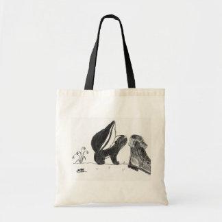 Skunk <3s Boot Tote