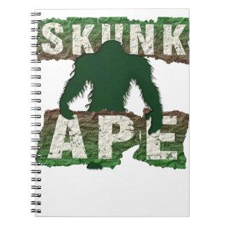 SKUNK APE SPIRAL NOTEBOOK