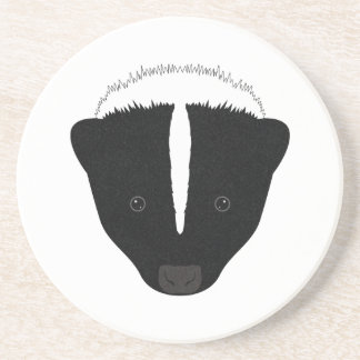 Skunk Face Coaster