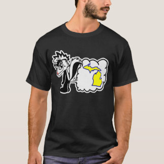 Skunk hates Michigan State Shirt. T-Shirt
