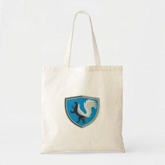 Skunk Prancing Side Crest Retro Tote Bag