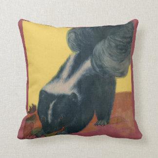 skunk print cushion