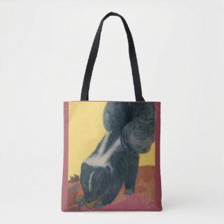 skunk print tote bag