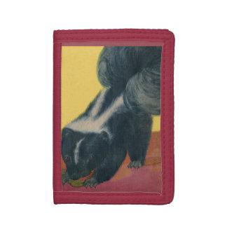 skunk print tri-fold wallet