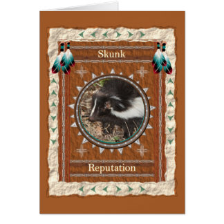 Skunk  -Reputation- Custom Greeting Card