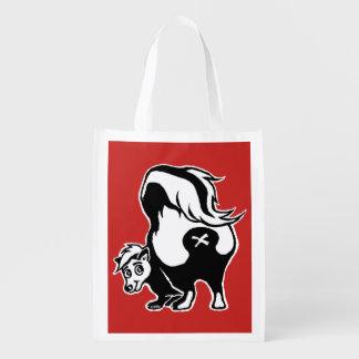 Skunk Reusable Grocery Bag