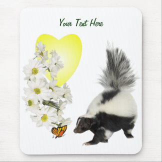 Skunks Need Time To Smell Flowers Too Mouse Pad
