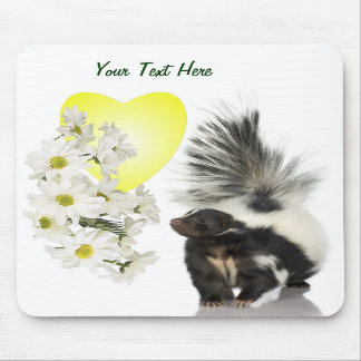 Skunks Need Time To Smell Flowers Too Mousepad