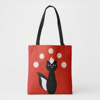 Skunky Flowers Tote Bag