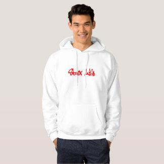 Skux Life: Red Graffiti Logo Hoodie