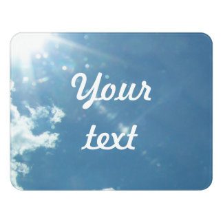 Sky 5992 - Sun and Clouds Door Sign