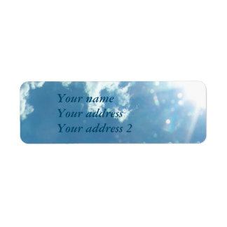 Sky 5992 - Sun and Clouds Return Address Label