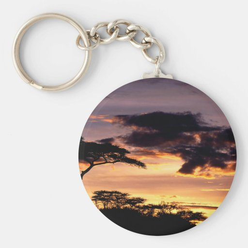 Sky A Beginning Tanzania Africa Key Chains