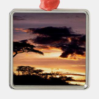 Sky A Beginning Tanzania Africa Metal Ornament