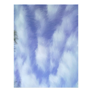 Sky abstract pattern full color flyer