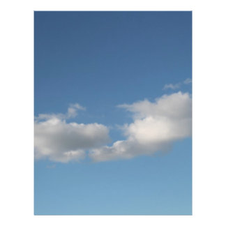 Sky and Clouds. Full Color Flyer