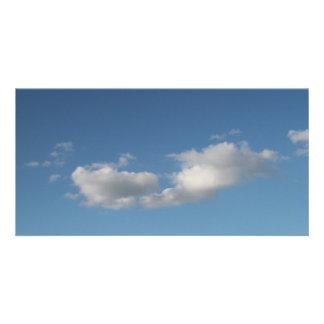 Sky and Clouds. Custom Photo Card