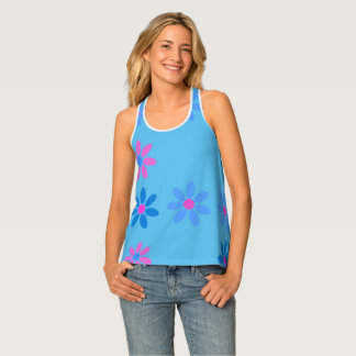 Sky and flowers singlet