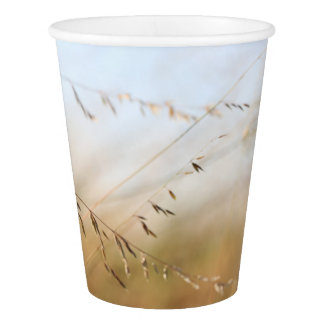 Sky and Grass Soft Colors Party Paper Cup