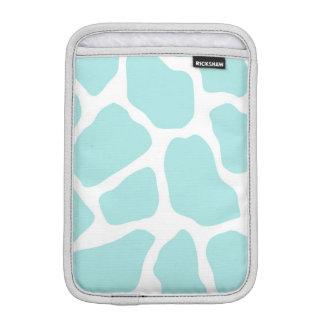 Sky and White Giraffe Print iPad Mini Sleeve