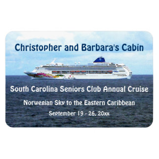 Sky at Sea Stateroom Door Marker Rectangle Magnets