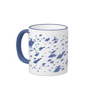 Sky Blue 3d Boxes Ringer Mug