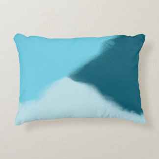 Sky Blue Abstract Decorative Cushion