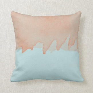Sky Blue and Orange Watercolor Painting Art Cushion