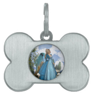 Sky Blue Angel Pet Tag